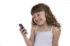 The girl with a mobile phone Royalty Free Stock Images