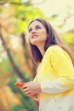 Girl with mobile phone Stock Photo