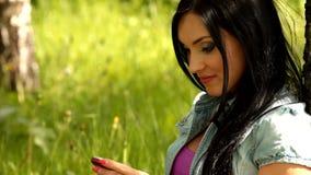 Girl  mobile phone Royalty Free Stock Image
