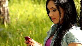 Girl  mobile phone Stock Photo