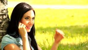 Girl  mobile phone Stock Photos