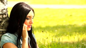 Girl  mobile phone Royalty Free Stock Images