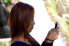 Girl With Mobile Phone Stock Image