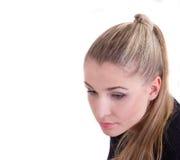 Girl modèle avec de longs cheveux sains photographie stock libre de droits