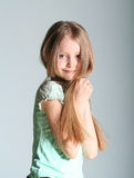 Girl model poses Royalty Free Stock Images