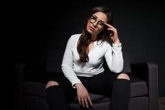 Girl model posing in the Studio royalty free stock photos