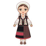 The girl in Moldavian dress.  Historical clothes. Royalty Free Stock Photos