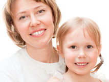 Girl with mom Stock Image
