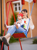 Girl with mom Royalty Free Stock Photos