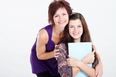 Girl and mom royalty free stock photos
