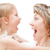 Girl with mom Stock Photography