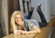 Girl with money. Beautiful girl posing with money Stock Photography