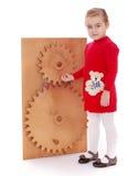 Girl Montessori kindergarten Royalty Free Stock Images