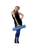 Girl with a mop Stock Photography