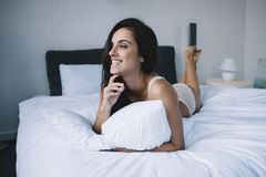 A girl in the morning Royalty Free Stock Image