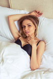 Girl in the morning Royalty Free Stock Photos