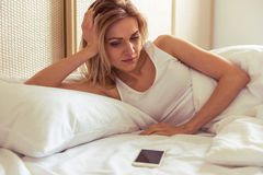 Girl in the morning Royalty Free Stock Photography