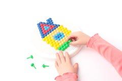Girl and mosaic Stock Photo
