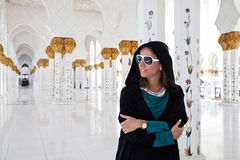 Girl in Mosque Royalty Free Stock Photography