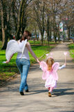 Girl and mother royalty free stock images