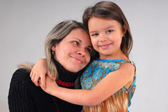 Girl with mother Royalty Free Stock Images