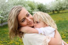 Girl with mother in the park Royalty Free Stock Photos