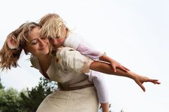 Girl with mother in the park Royalty Free Stock Photography
