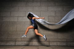 Girl in Motion 20 royalty free stock photos