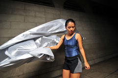 Girl in Motion 25. Pictures of people swirling fabric in motion. Useful for context on creativity or artistic expression or freeze motion. Every shot is Stock Image