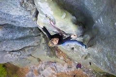Girl mountain climber. Stock Images