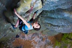 Girl mountain climber. Stock Photo