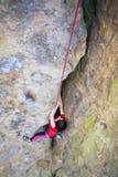 Girl mountain climber. Stock Image