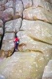 Girl mountain climber. Stock Photography