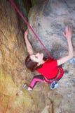Girl mountain climber. Stock Photos