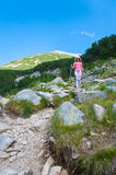 Girl on Mountain Pirin Royalty Free Stock Photography