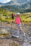 Girl on Mountain Pirin Stock Image