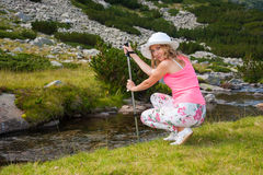Girl on Mountain Pirin Royalty Free Stock Photo
