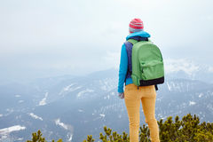 Girl in mountains Royalty Free Stock Images