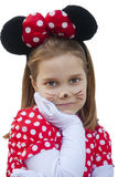 Girl with mouse costume Stock Photos