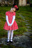 Girl with mouse costume Royalty Free Stock Photo