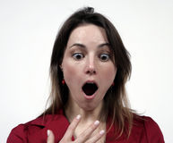 Girl with mouth open. Ed wide stock photography