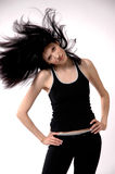 The girl in  moves Stock Photos