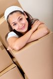 Girl moving Royalty Free Stock Images
