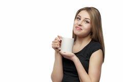 Girl with mug Stock Photo