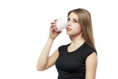 Girl with mug Stock Photos