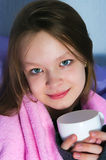 The girl with a mug Royalty Free Stock Photography