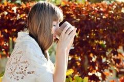 Girl with mug Stock Image