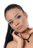 The girl the mulatto with a beautiful make-up Stock Image