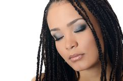 The girl  mulatto with a beautiful make-up. The girl the mulatto with beautiful make-up Royalty Free Stock Images