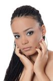 The girl the mulatto with a beautiful make-up Royalty Free Stock Photo